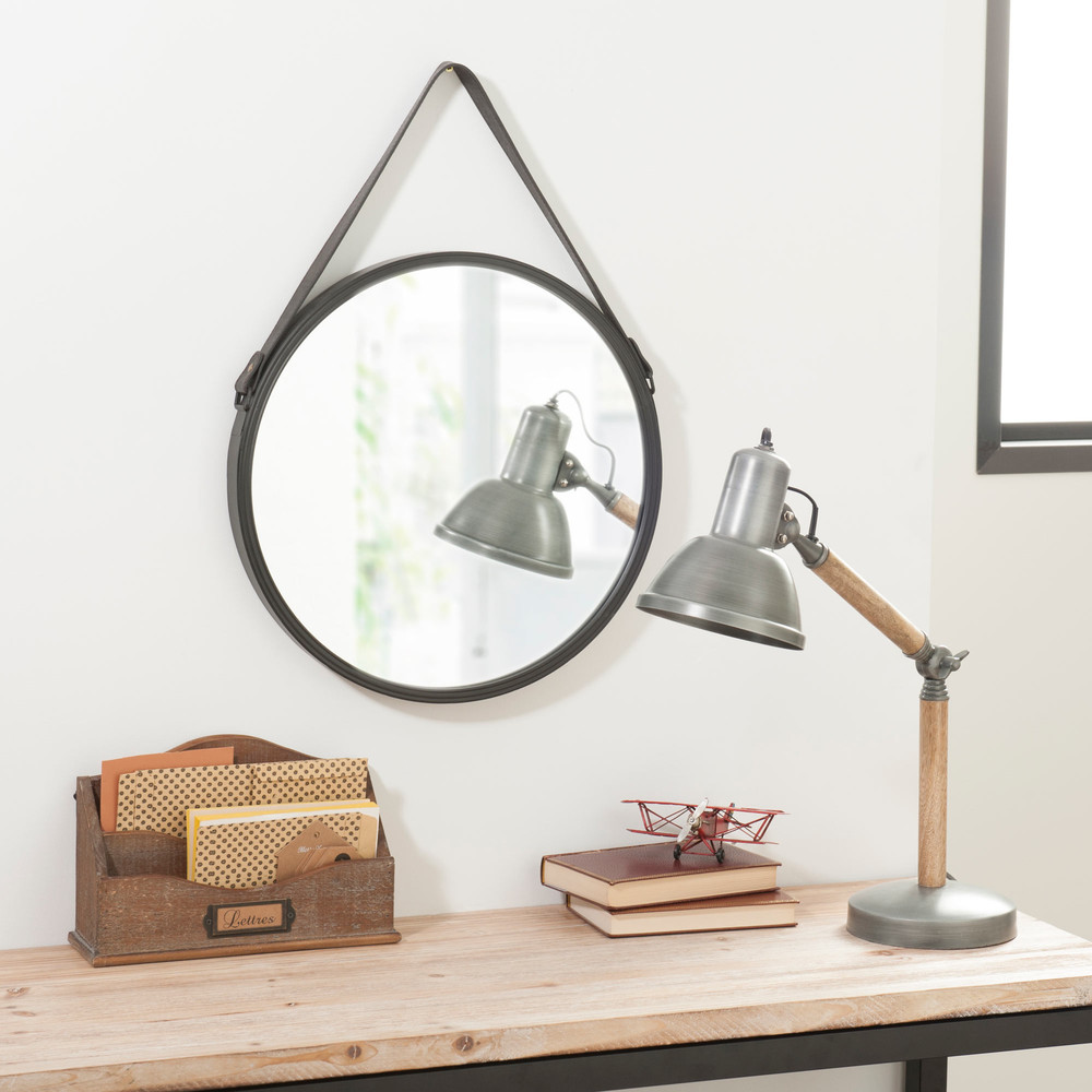 miroir en m tal d 41 cm biggie maisons du monde. Black Bedroom Furniture Sets. Home Design Ideas