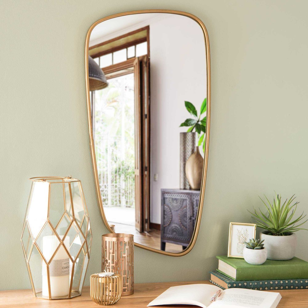 miroir en m tal dor 40x70cm anzio maisons du monde. Black Bedroom Furniture Sets. Home Design Ideas