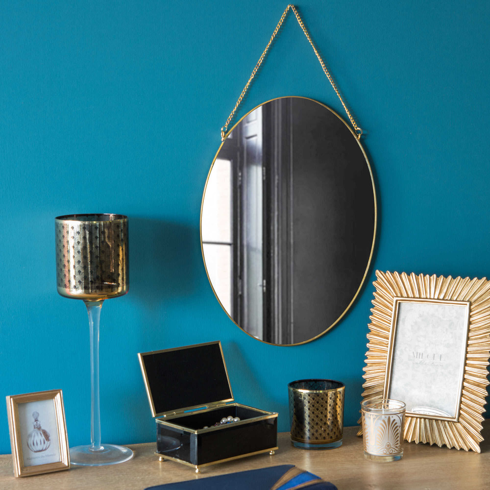 miroir en m tal dor h 33 cm alisha maisons du monde. Black Bedroom Furniture Sets. Home Design Ideas