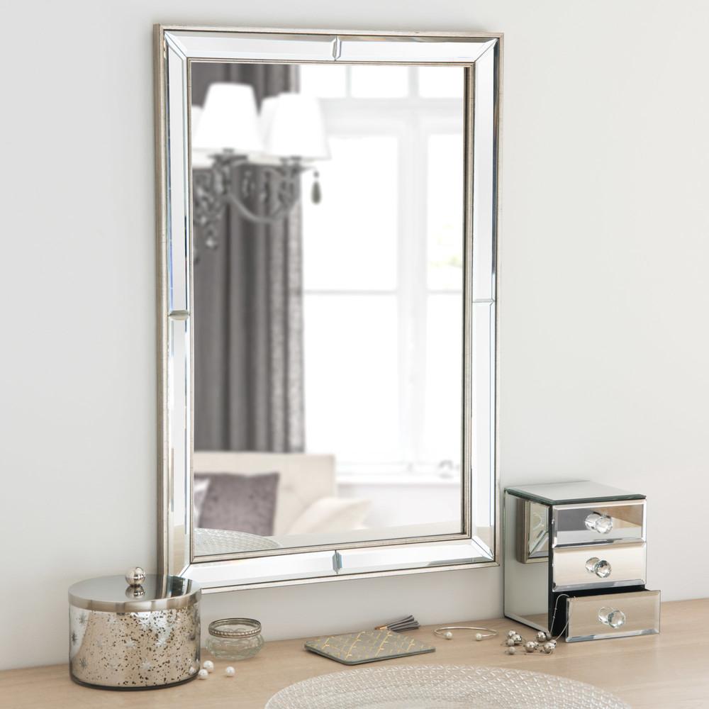 Miroir en m tal effet laiton 40x60 maisons du monde for Miroirs rectangulaires
