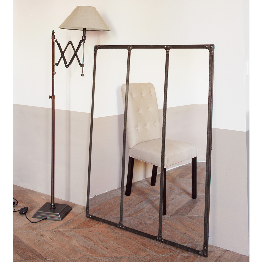 miroir en m tal effet rouille h 120 cm cargo maisons du. Black Bedroom Furniture Sets. Home Design Ideas