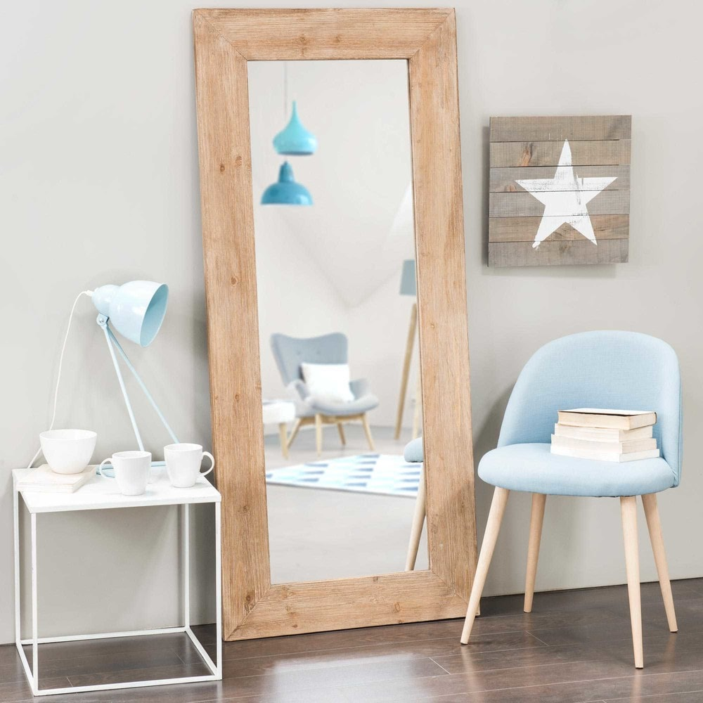 Miroir en orme recycl h 160 cm key west maisons du monde for Miroir mural 160 cm