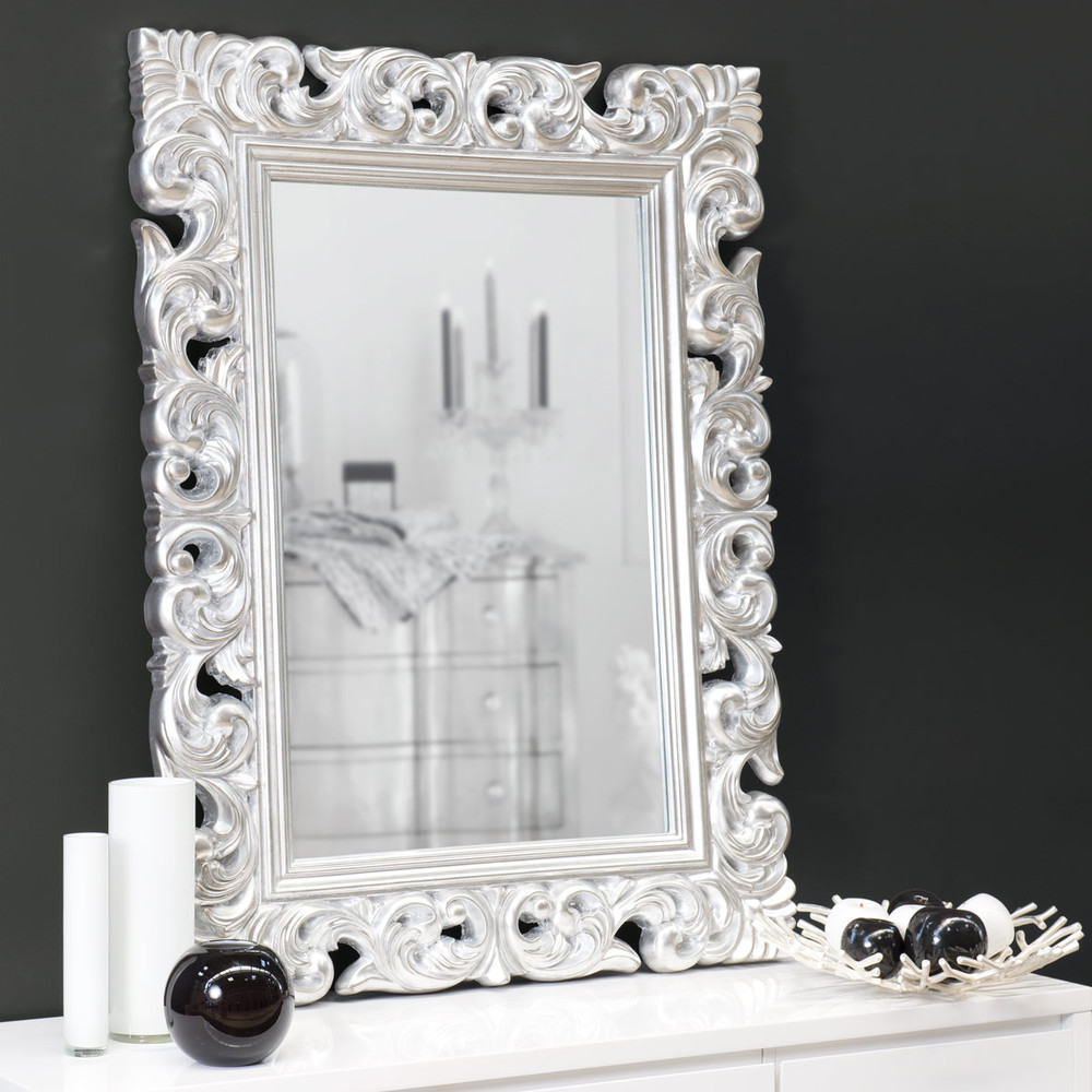 miroir en polyr sine argent h 121 cm rivoli maisons du monde. Black Bedroom Furniture Sets. Home Design Ideas