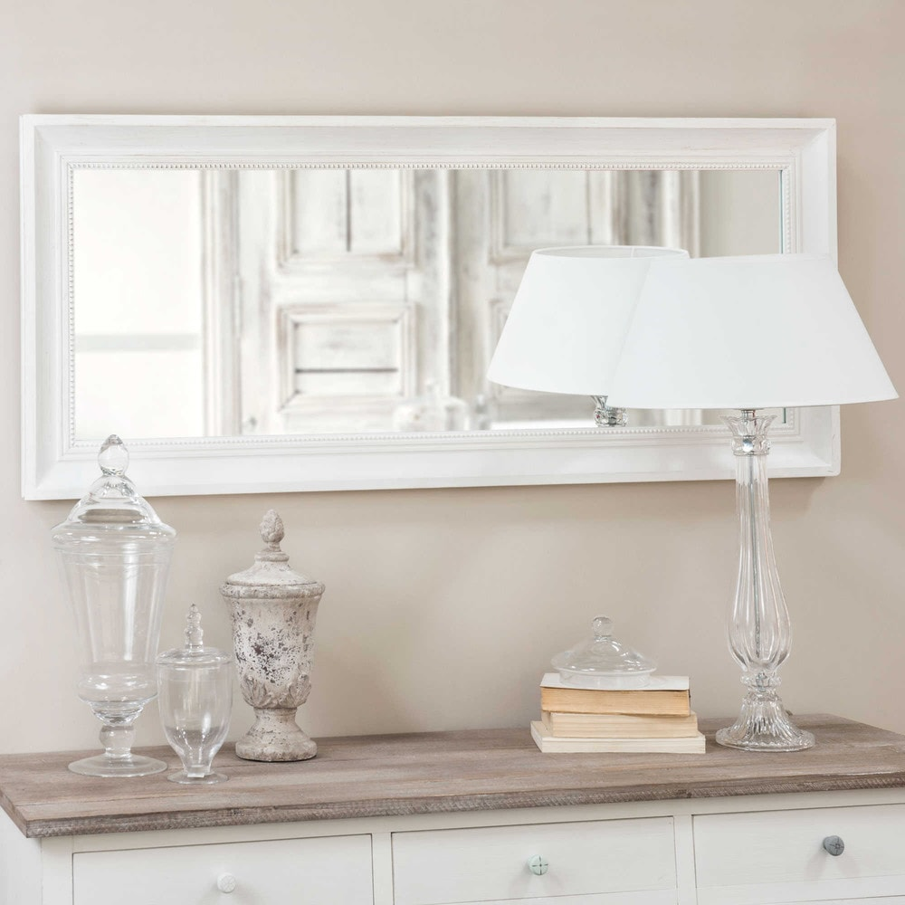 Miroir en sapin cru 54x130 honor maisons du monde for Petit miroir blanc