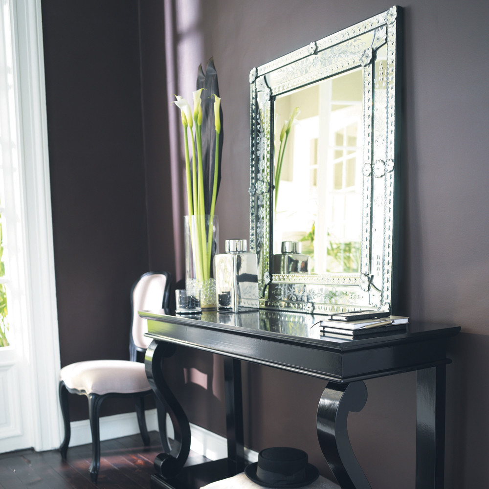 miroir en verre h 90 cm v nitien maisons du monde. Black Bedroom Furniture Sets. Home Design Ideas