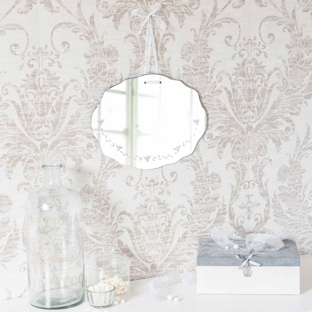 Miroir grav h 30 cm hortense maisons du monde for Miroir 30 cm