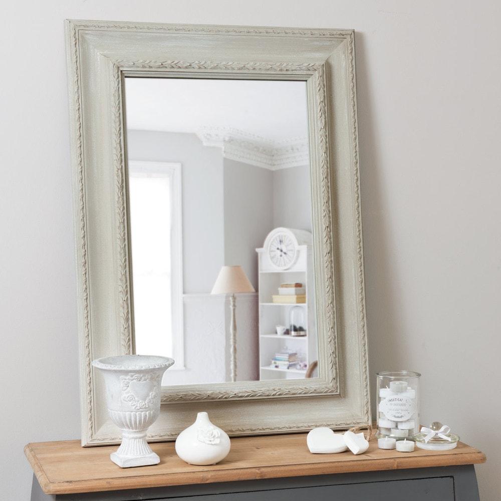 Miroir l onore beige 90x65 maisons du monde for Miroir 90x140