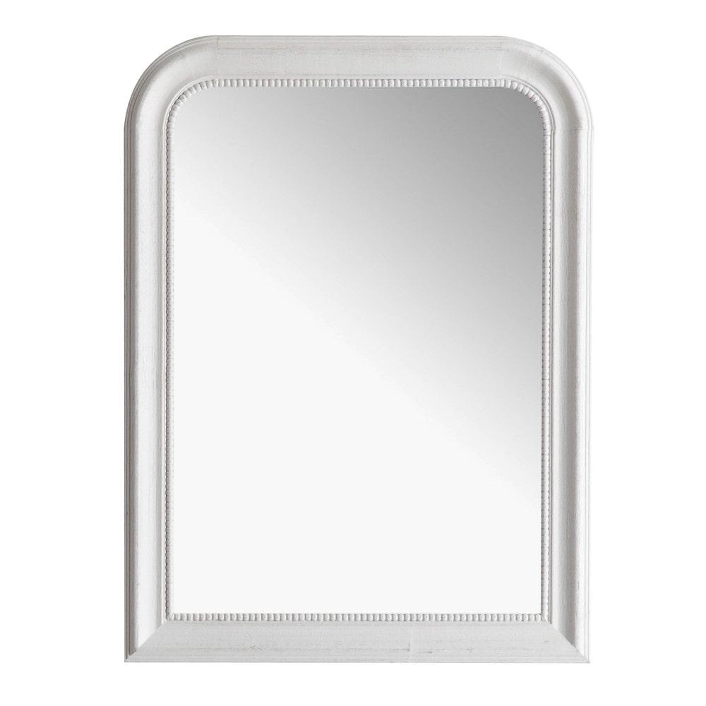 Miroir louis blanc 60x80 maisons du monde for Miroir salon blanc