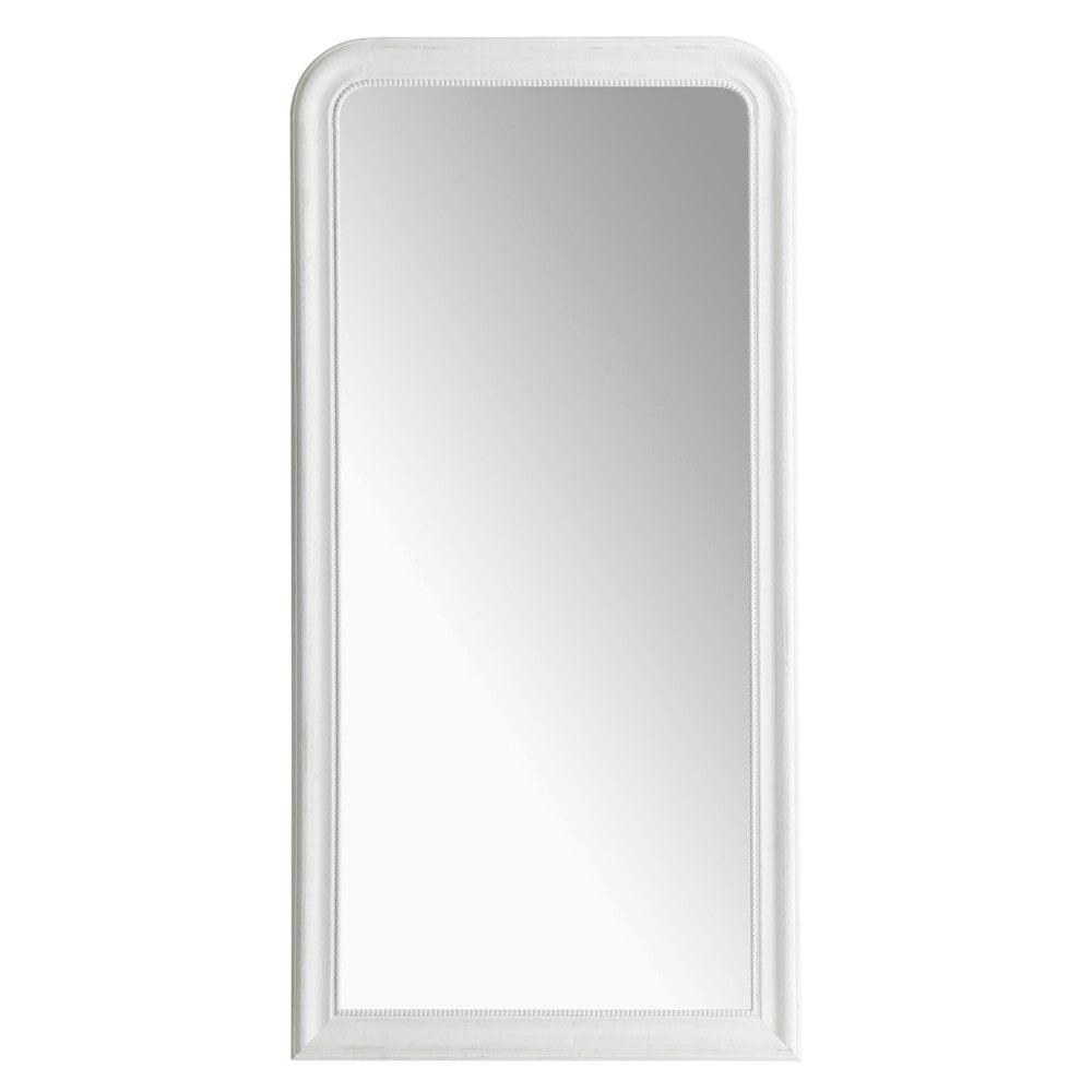 Miroir louis blanc 80x160 maisons du monde for Miroir 90x120