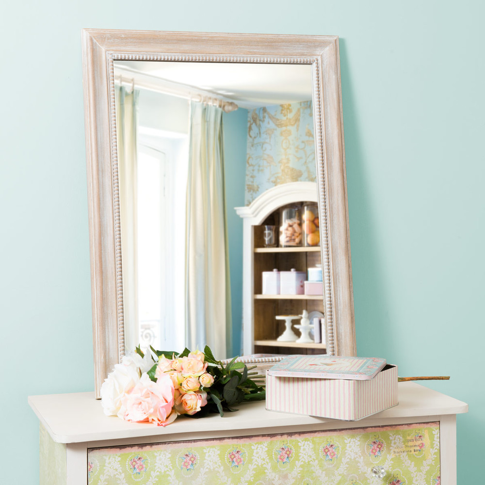 Miroir louis naturel rectangle 80x60 maisons du monde for Miroir 80x60