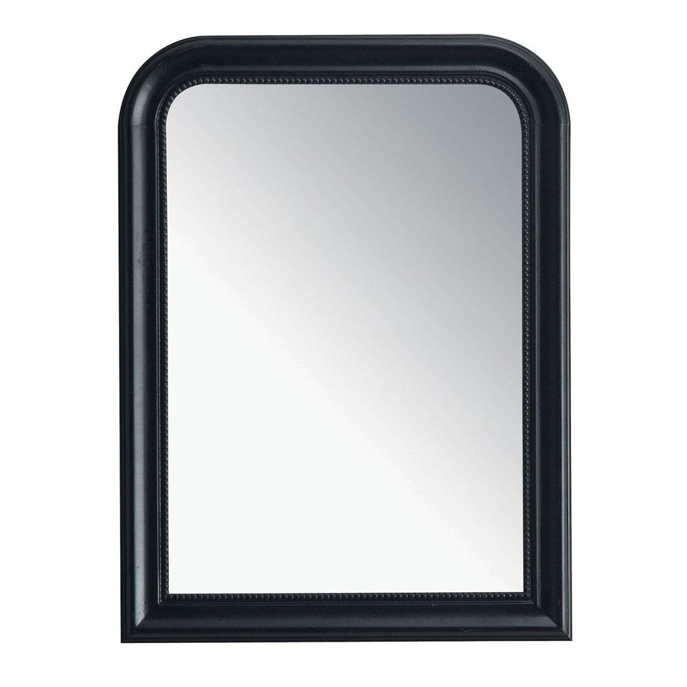 Miroir louis noir 60x80 maisons du monde for Miroir 60x80
