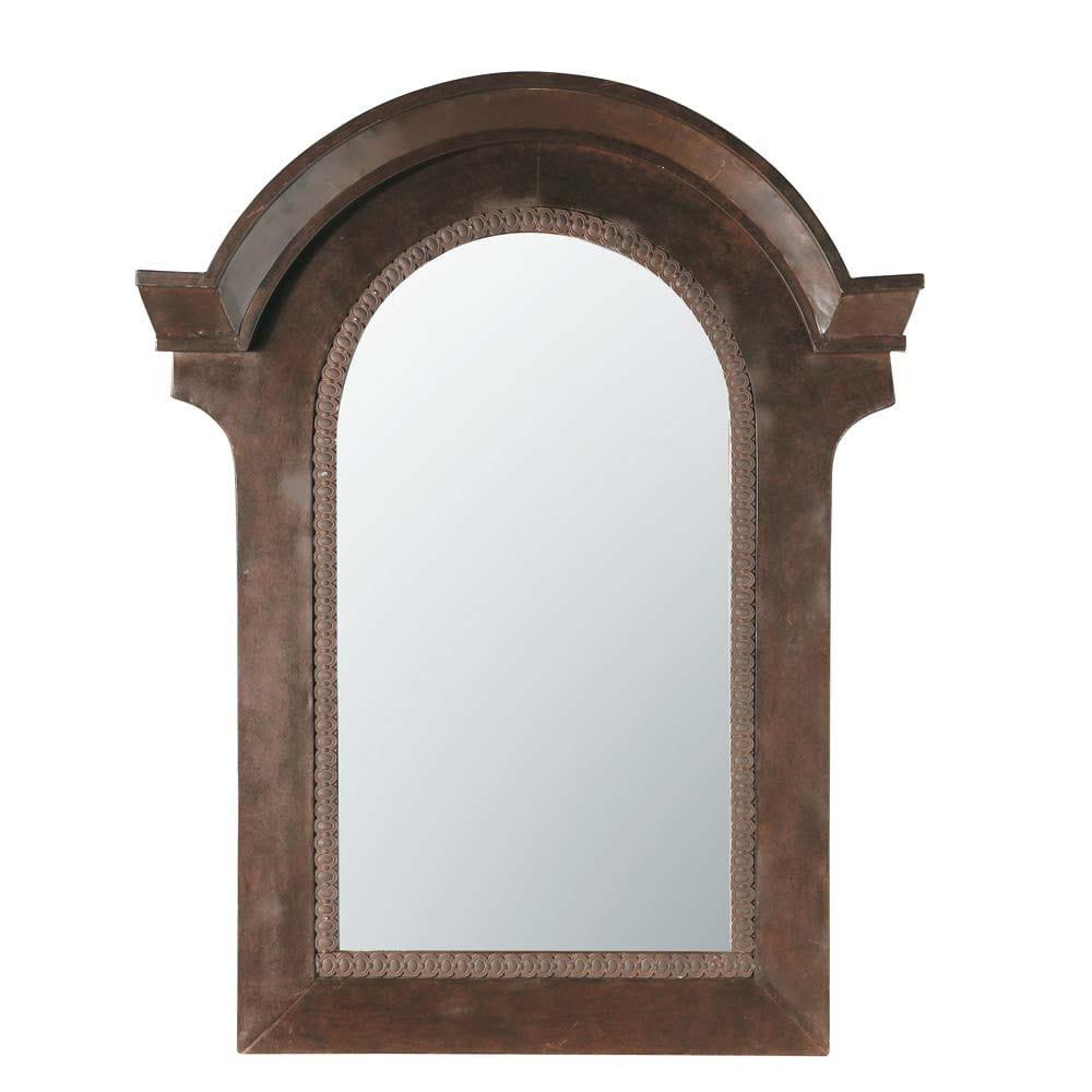 Miroir lucarne vieilli maisons du monde for Miroir vieilli