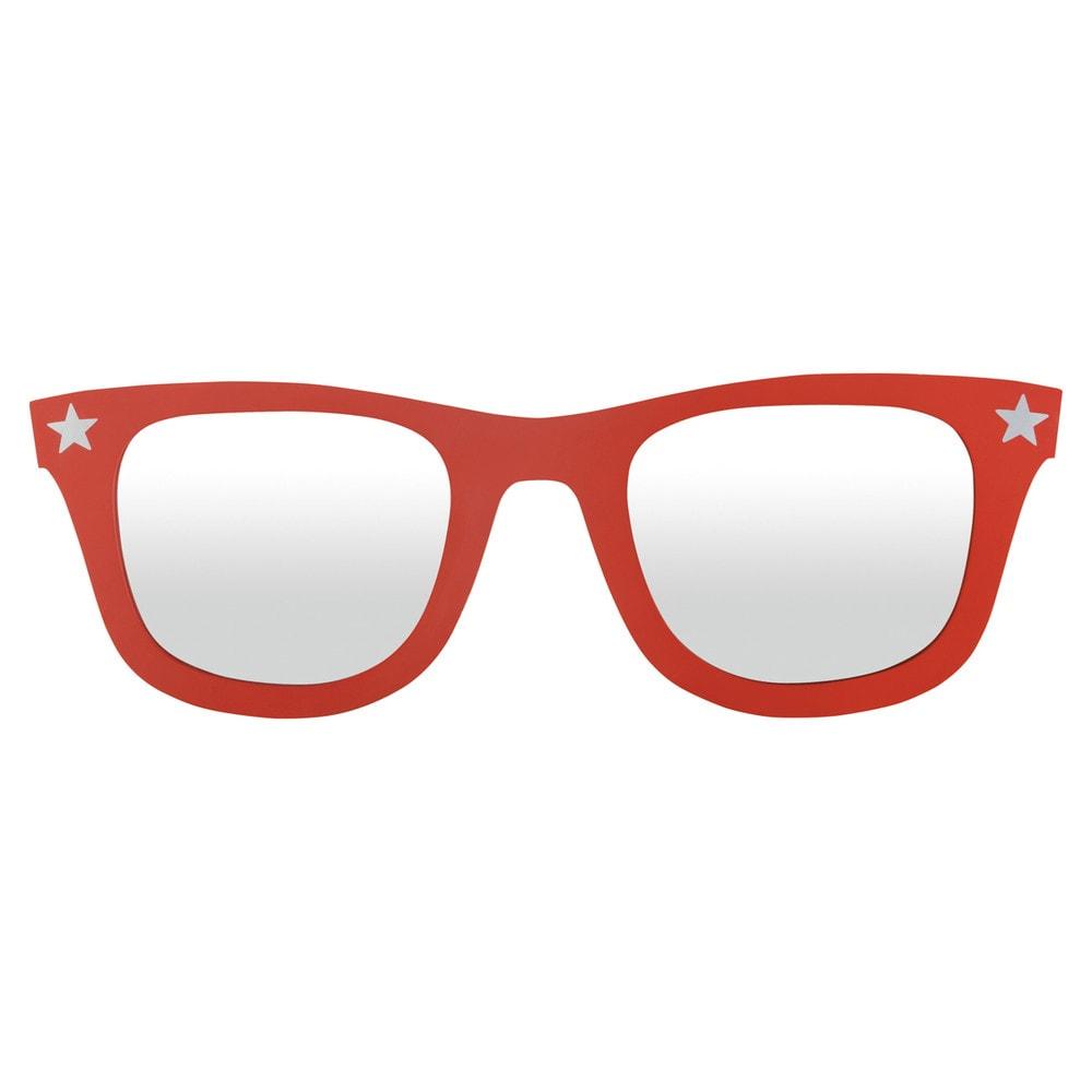 Miroir lunettes rouges rock maisons du monde - Miroir en forme de lunette ...
