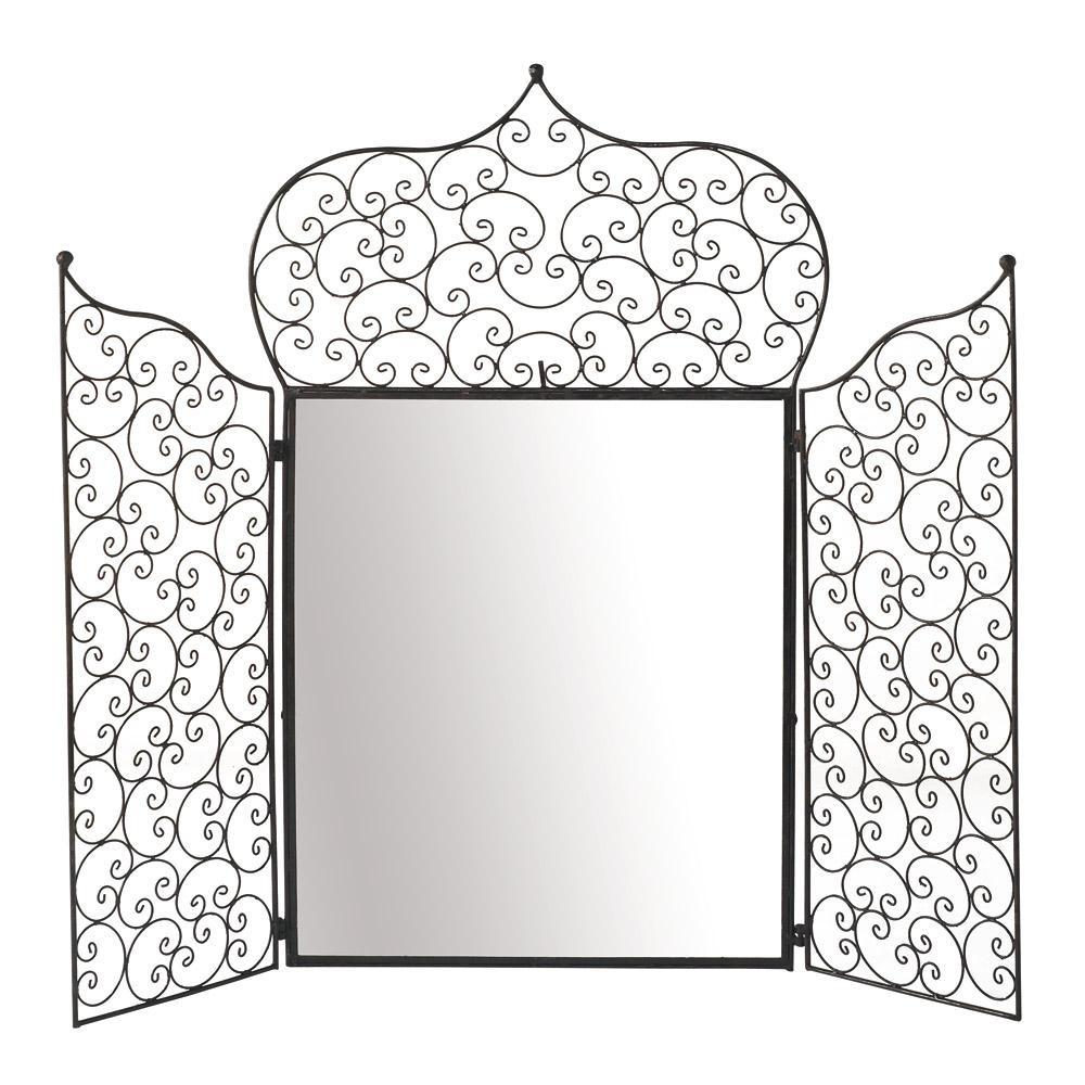 Miroir majorelle maisons du monde for Miroir fer forge
