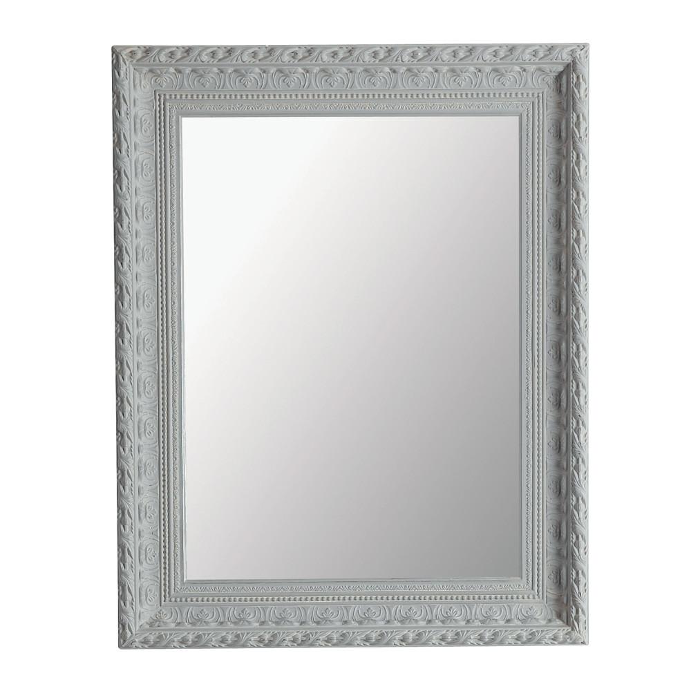 Miroir marquise gris 76x96 maisons du monde for Miroir gris argent