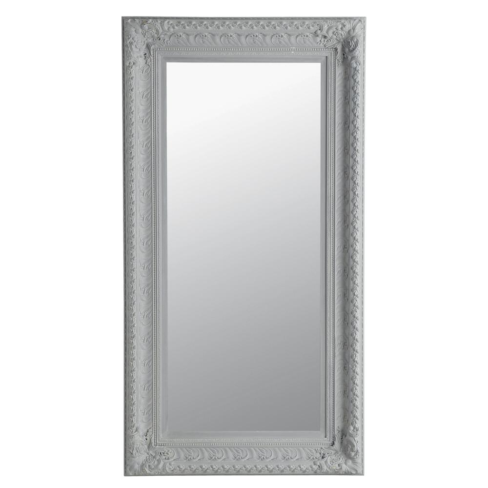 Miroir marquise gris 95x180 maisons du monde for Miroir gris argent