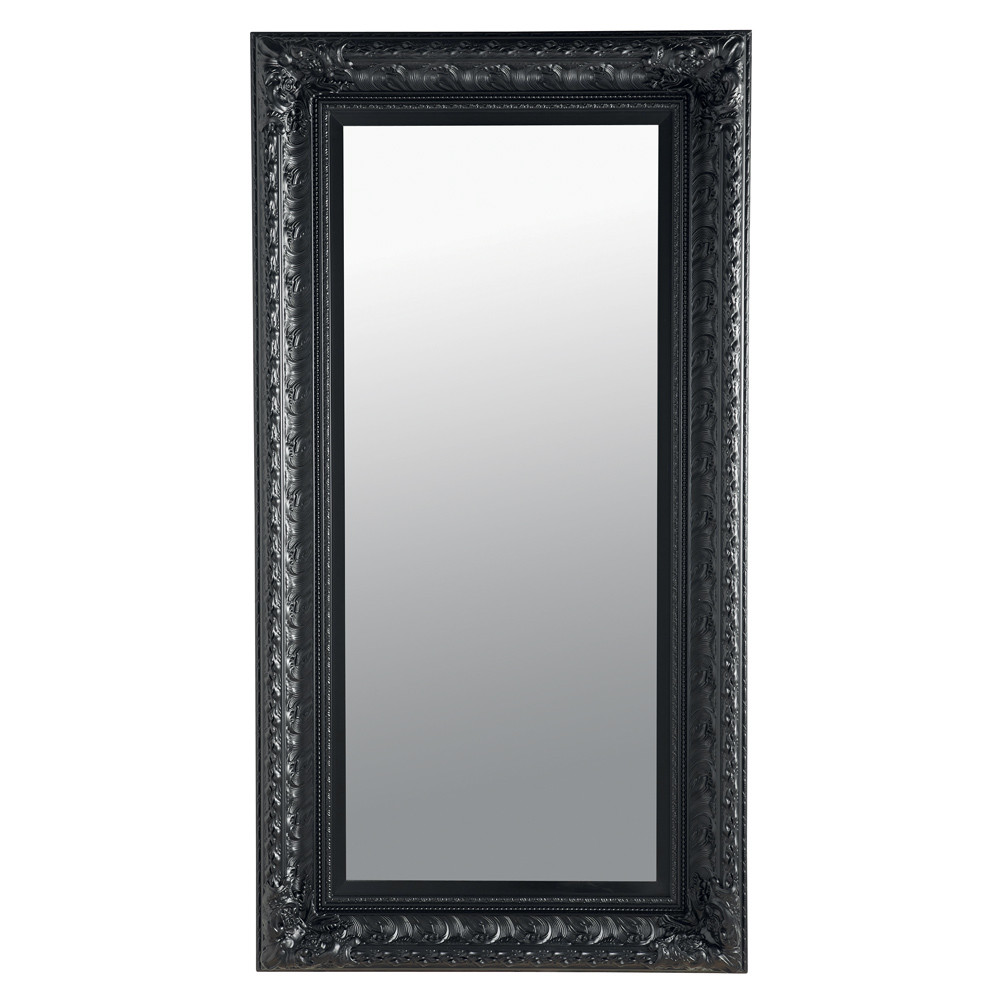 miroir marquise noir 95x180 maisons du monde. Black Bedroom Furniture Sets. Home Design Ideas
