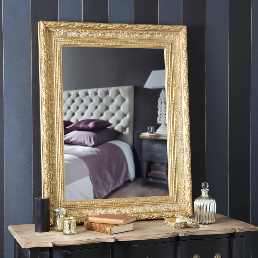miroir marquise or 96x76 maisons du monde. Black Bedroom Furniture Sets. Home Design Ideas
