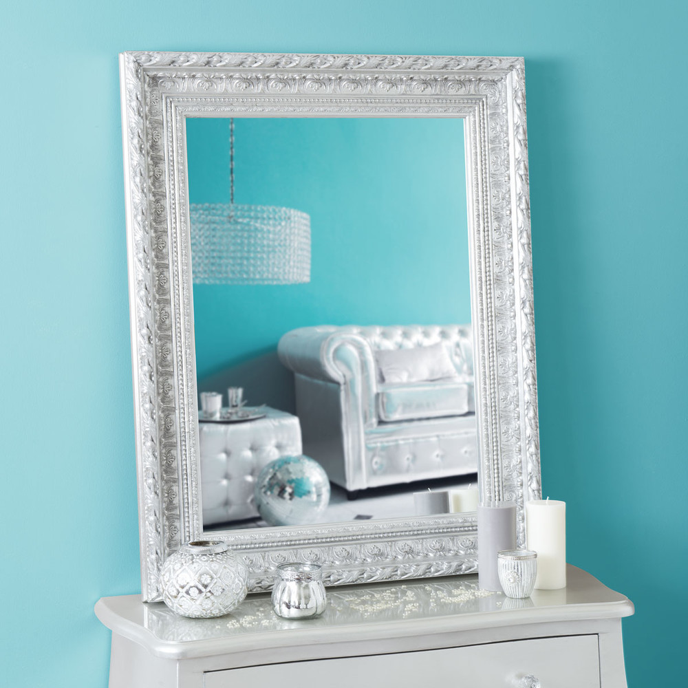 Miroir marquise silver 96x76 maisons du monde for Miroirs rectangulaires