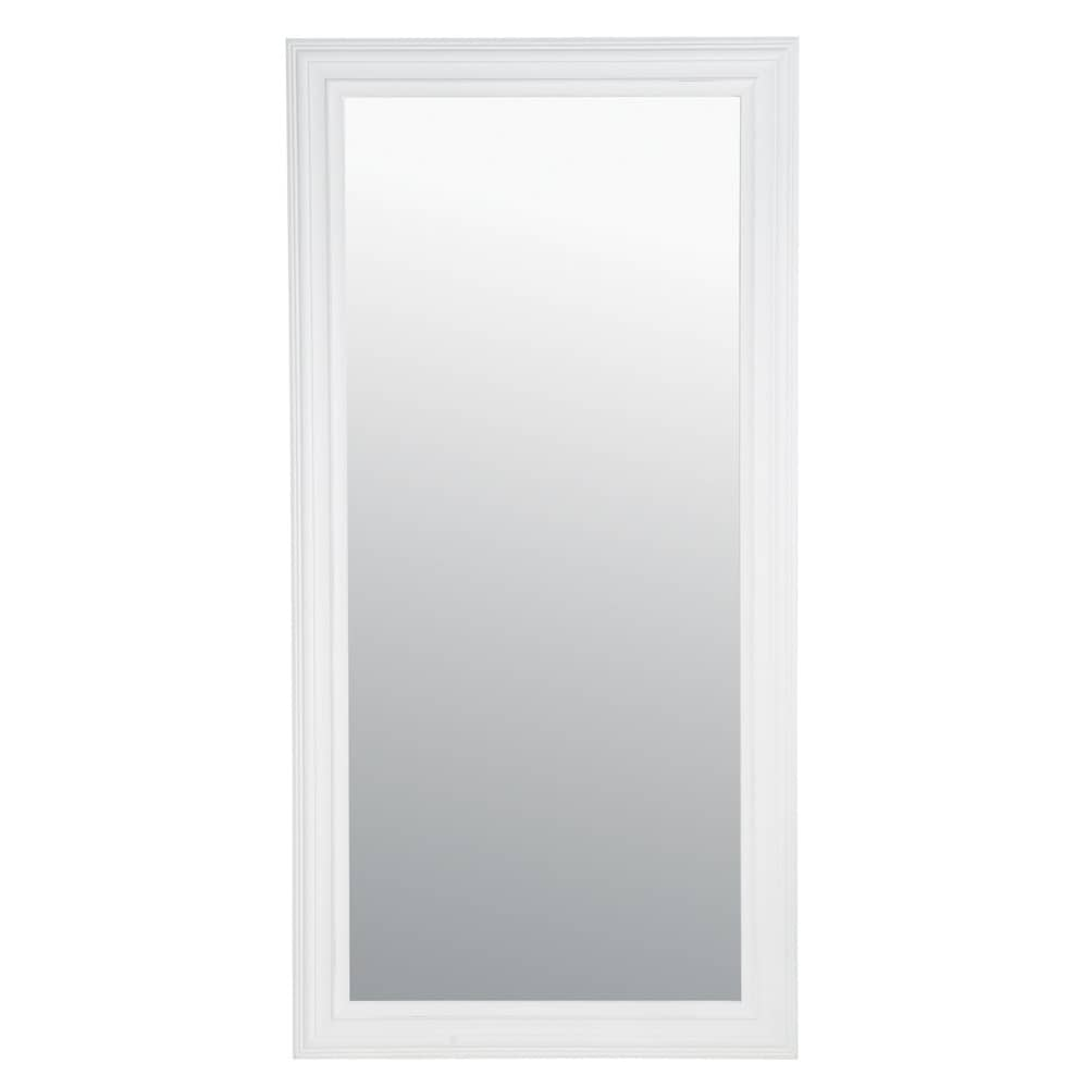 Miroir napoli blanc 80x160 maisons du monde for Miroir quadrilobe blanc