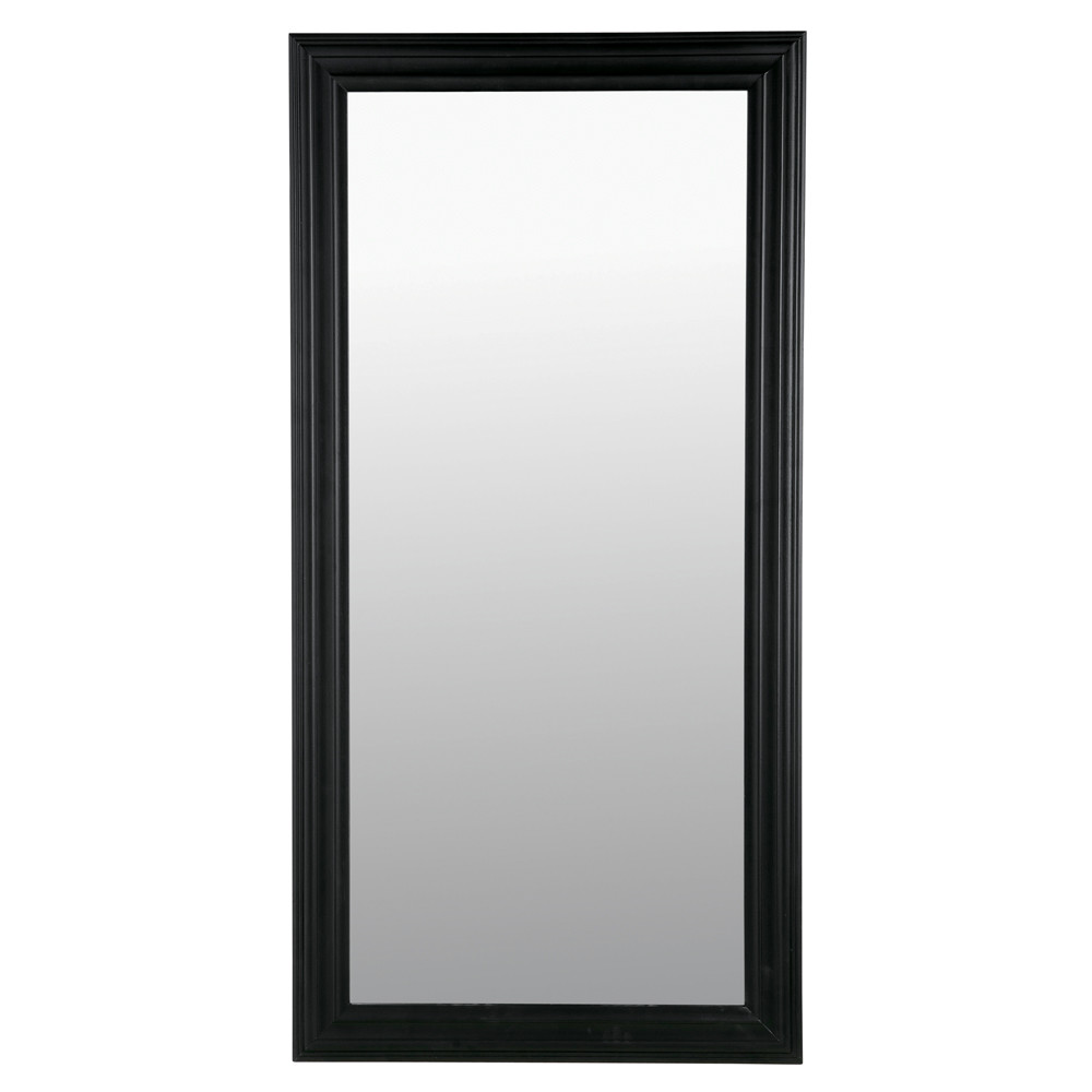 Miroir napoli noir 80x160 maisons du monde for Miroir rectangulaire noir