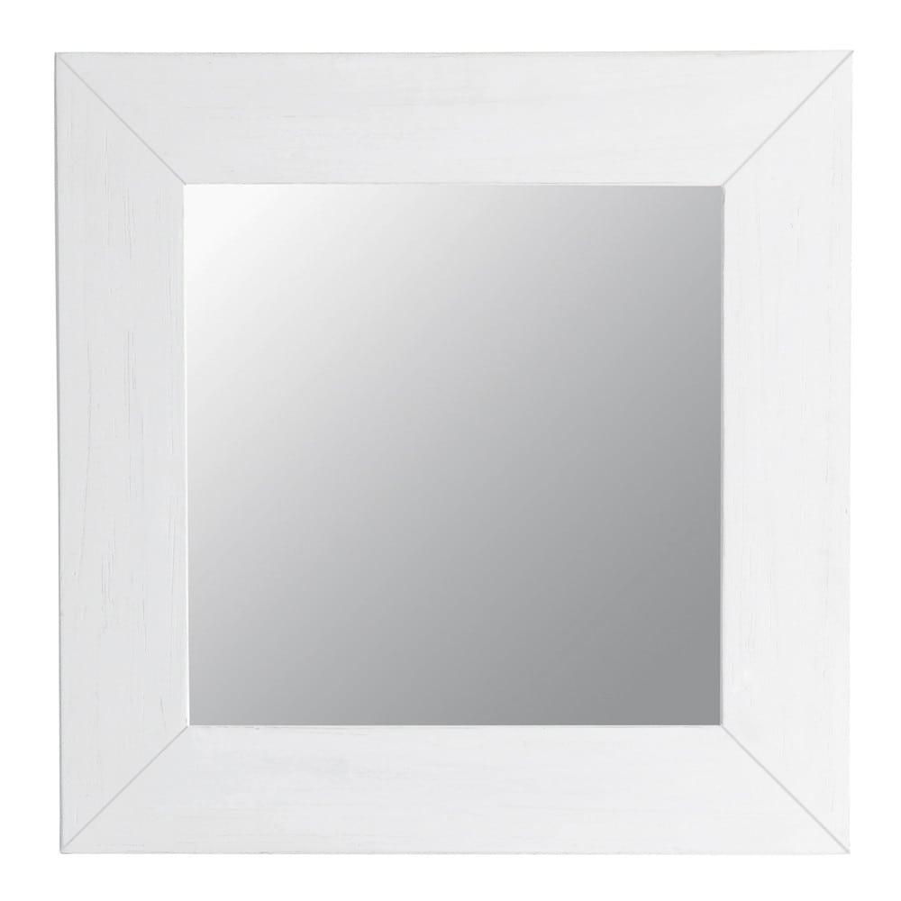 miroir natura blanc carr maisons du monde