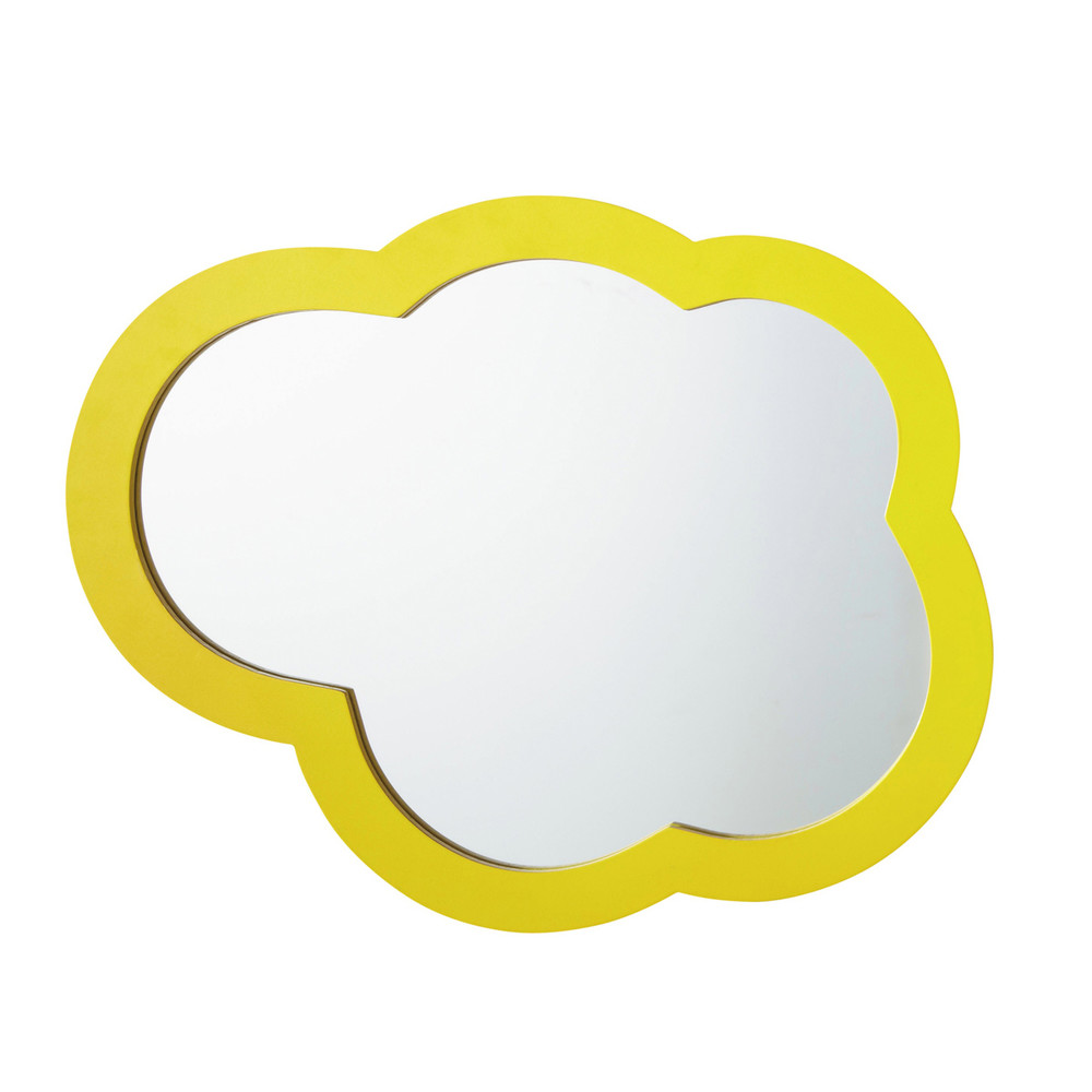 miroir nuage jaune happy maisons du monde. Black Bedroom Furniture Sets. Home Design Ideas