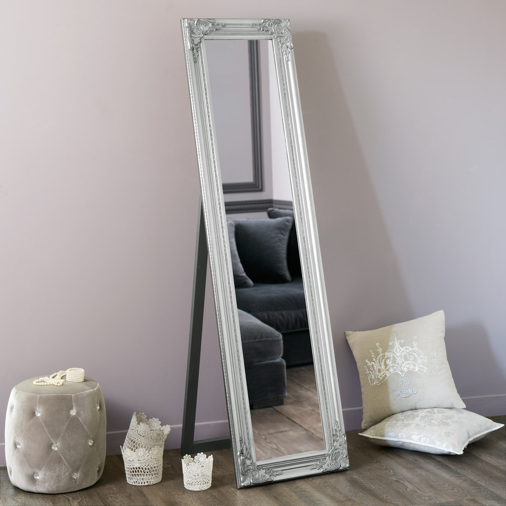 miroir psych argent h 164 cm enzo maisons du monde. Black Bedroom Furniture Sets. Home Design Ideas