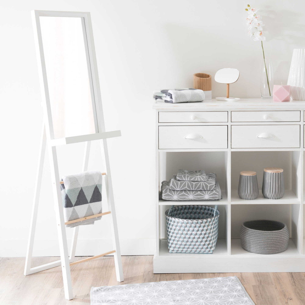 miroir psych blanc h 160 cm white maisons du monde. Black Bedroom Furniture Sets. Home Design Ideas