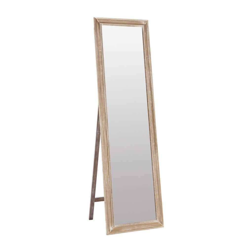 miroir psych en bois h 170 cm louis maisons du monde