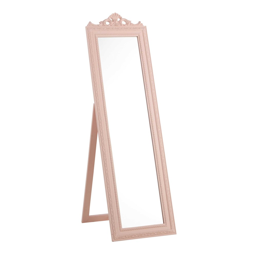 miroir psych en bois rose h 120 cm l a maisons du monde. Black Bedroom Furniture Sets. Home Design Ideas