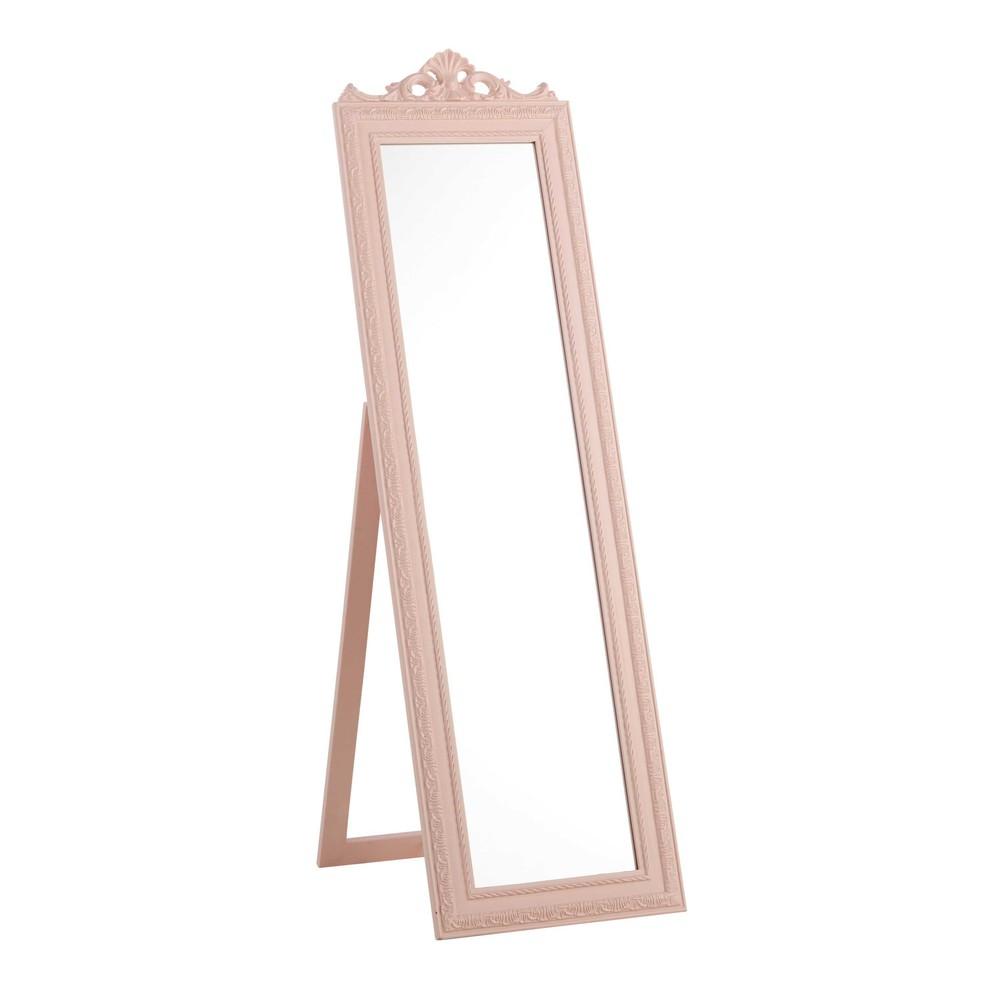 Miroir Psych En Bois Rose H 120 Cm L A Maisons Du Monde