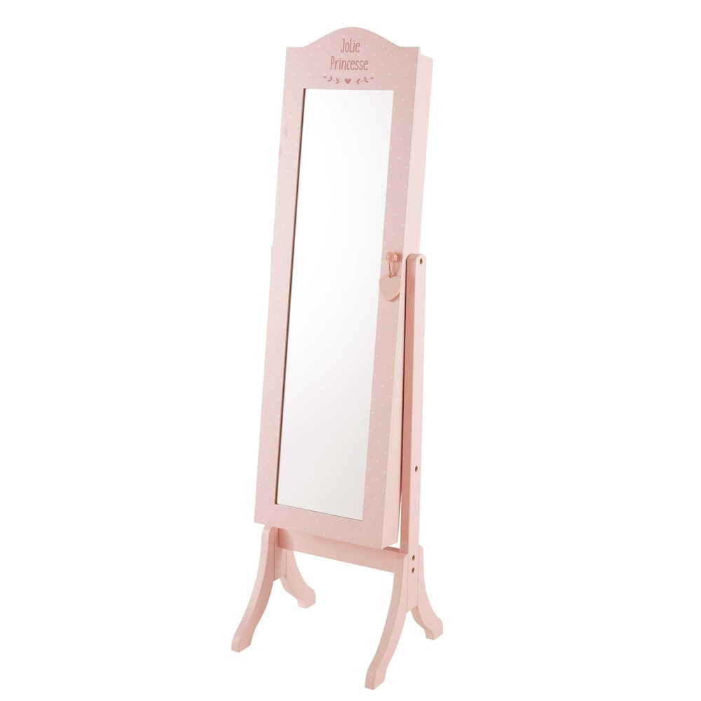 Miroir psych rose en pin lilly maisons du monde for Miroir psyche