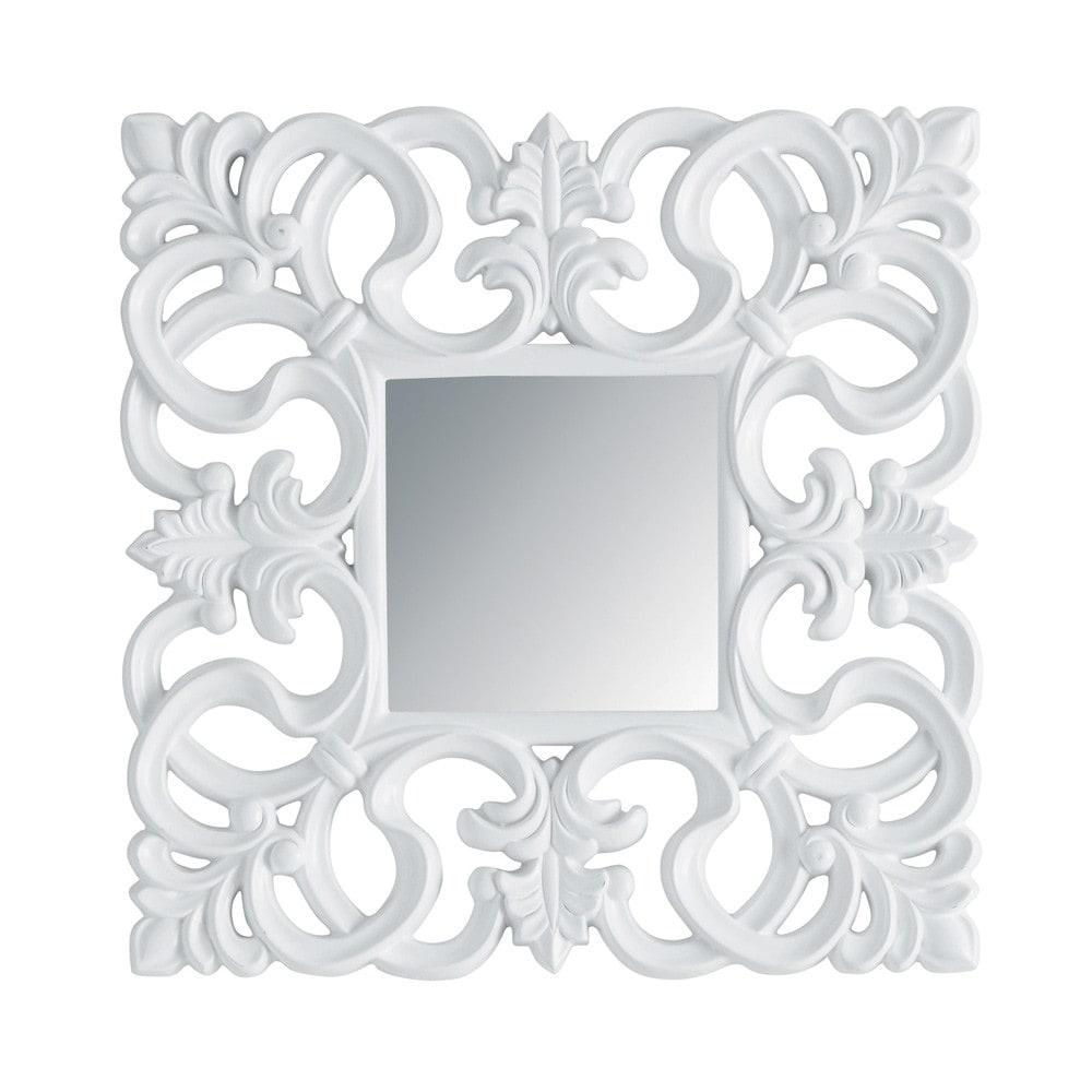 Miroir Rivoli carré blanc | Maisons du Monde