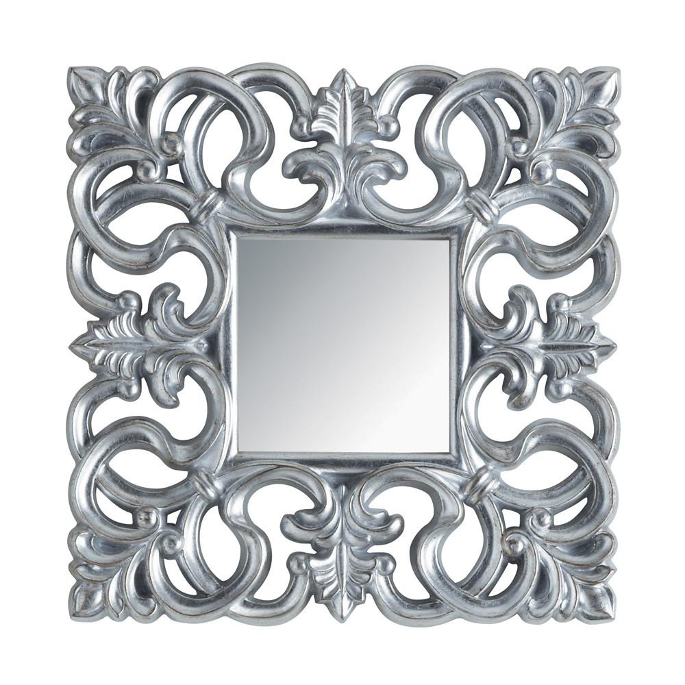 Miroir Rivoli carré silver | Maisons du Monde