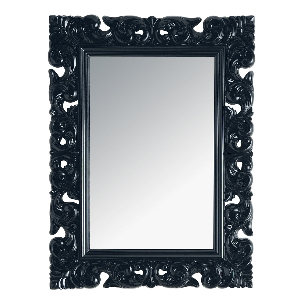 miroir rivoli noir 120x90 maisons du monde. Black Bedroom Furniture Sets. Home Design Ideas