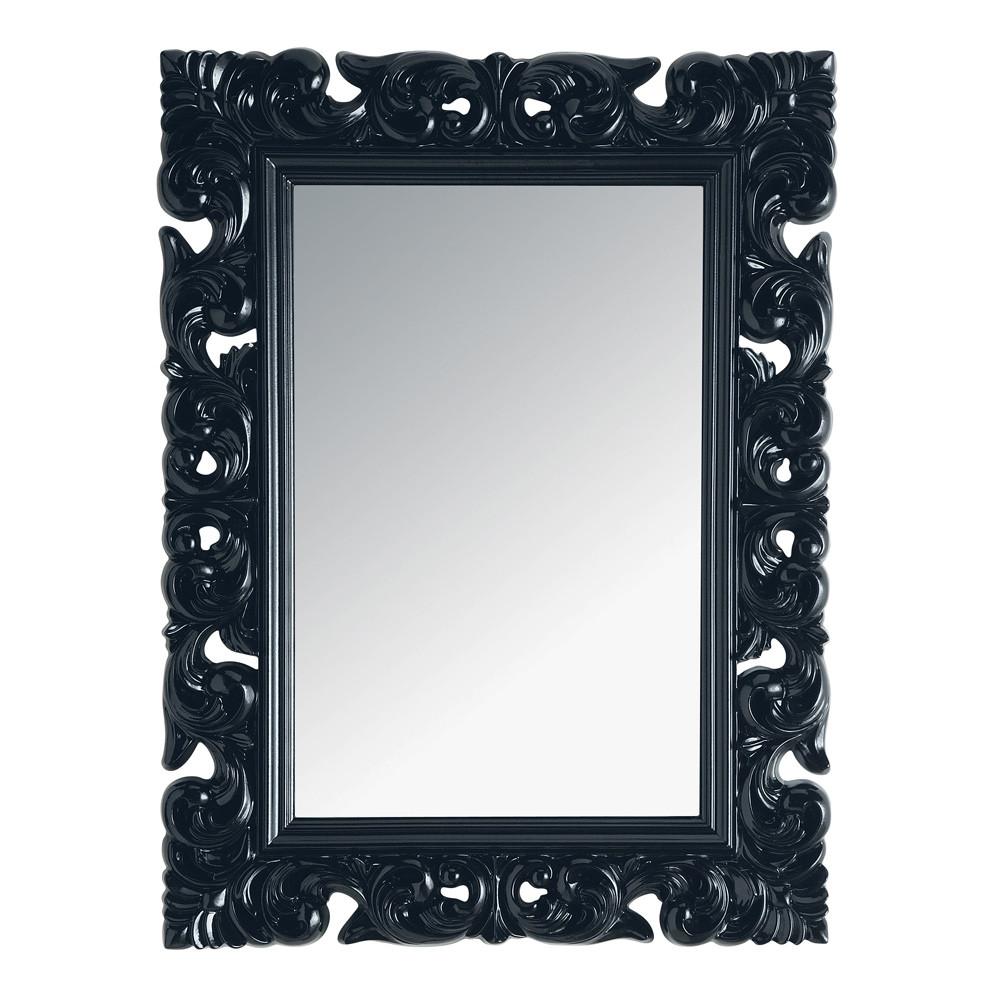 Miroir rivoli noir 120x90 maisons du monde - Miroir baroque noir rectangulaire ...
