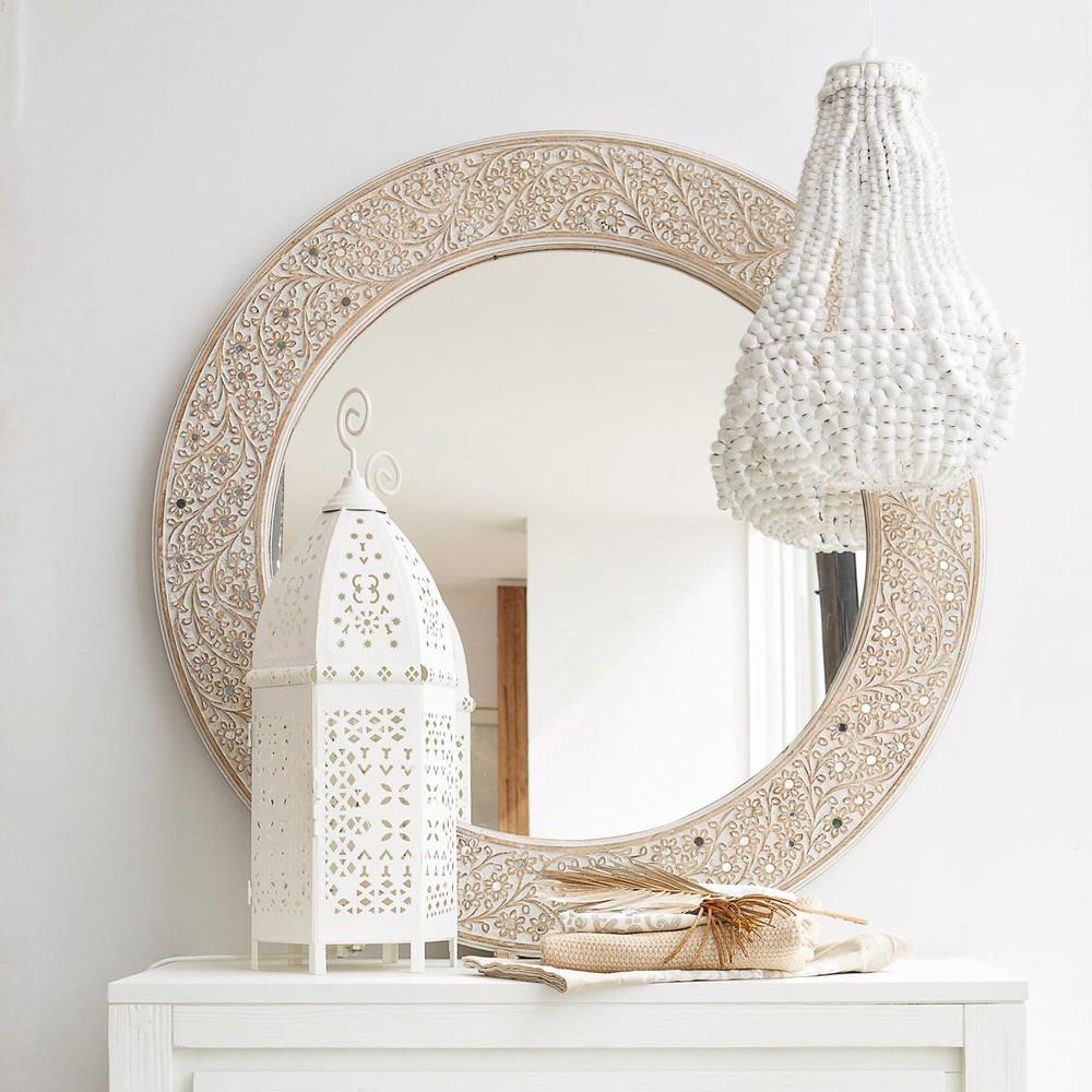 miroir rond aissa maisons du monde. Black Bedroom Furniture Sets. Home Design Ideas