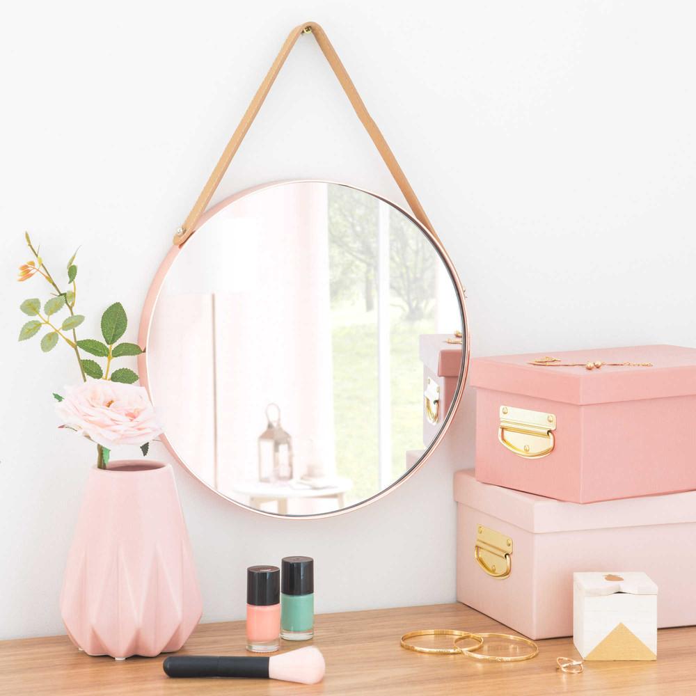 miroir rond en m tal cuivr laredo maisons du monde. Black Bedroom Furniture Sets. Home Design Ideas