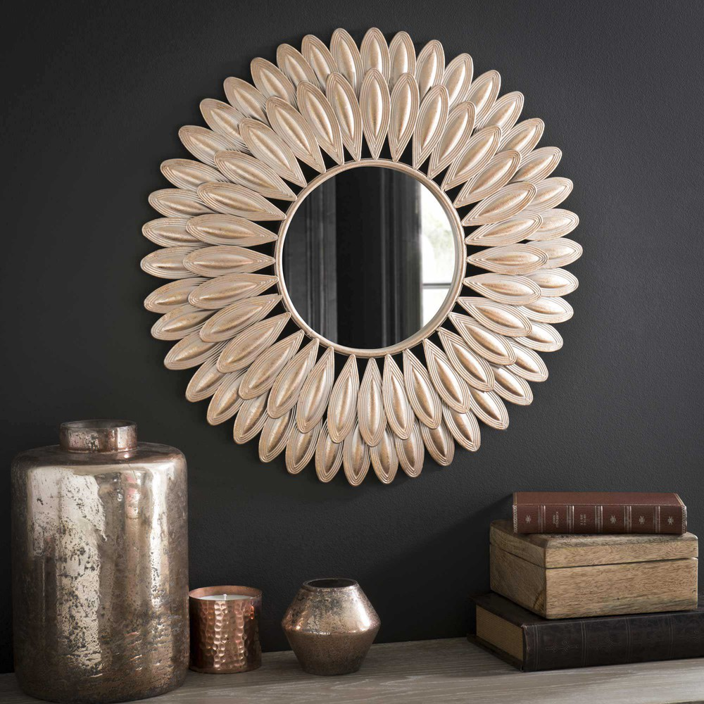 miroir rond en m tal d 51 cm swahili maisons du monde. Black Bedroom Furniture Sets. Home Design Ideas