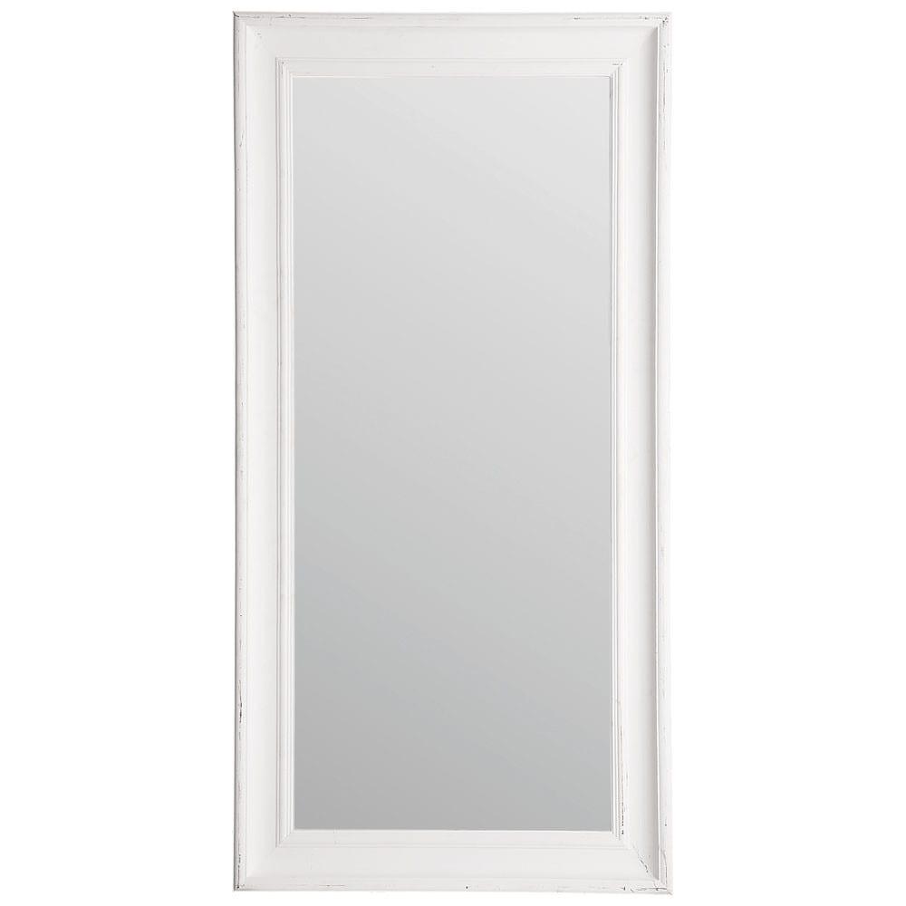Miroir sully blanc maisons du monde for Miroir sans fond