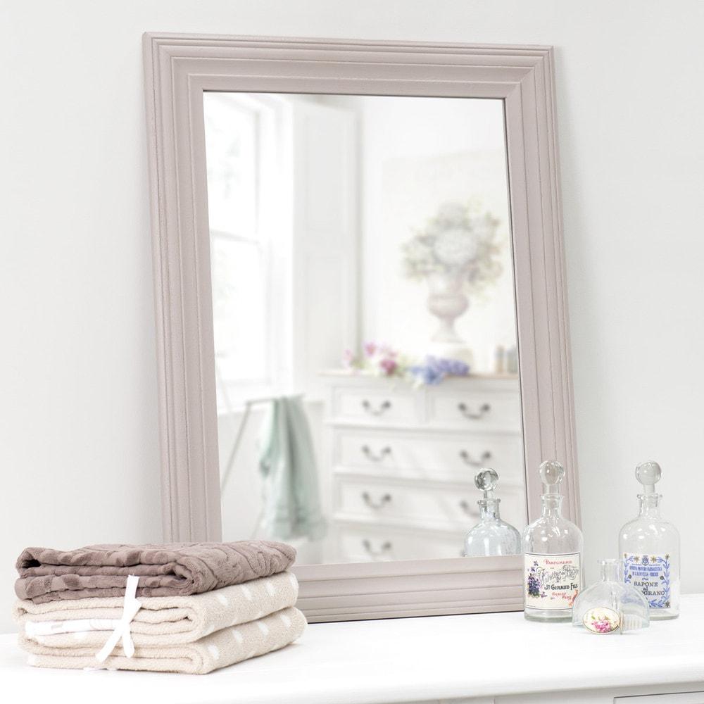 miroir taupe napoli 80x60 maisons du monde. Black Bedroom Furniture Sets. Home Design Ideas