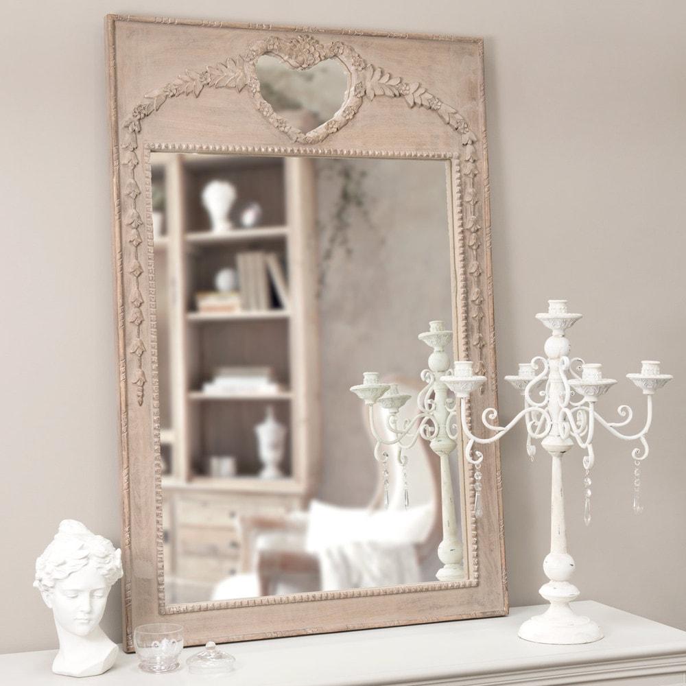 miroir trumeau c ur lucie maisons du monde. Black Bedroom Furniture Sets. Home Design Ideas