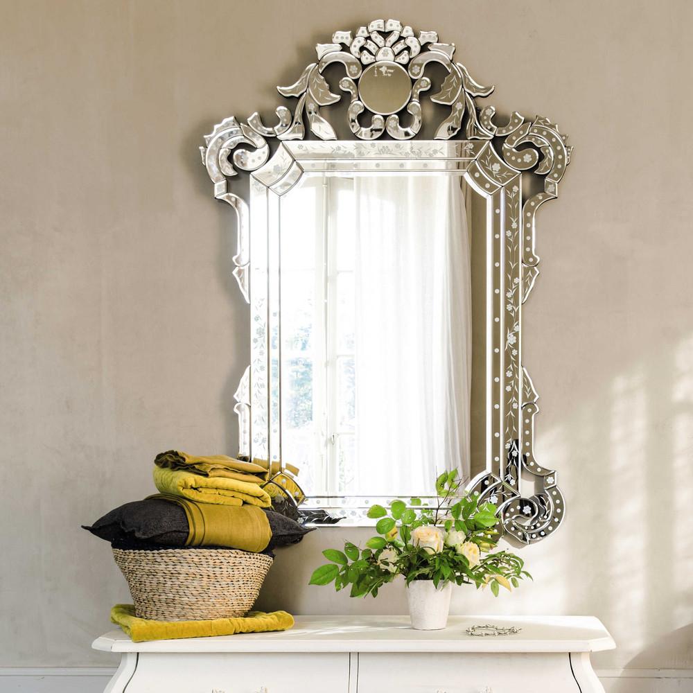 Miroir v nitien h 141 cm casanova maisons du monde for Miroir zinc maison du monde