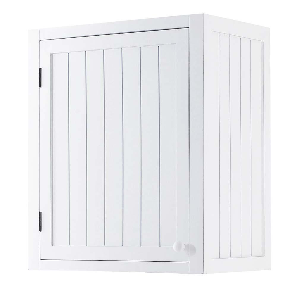 Mobile alto bianco da cucina in legno con apertura a for Cucina legno bianco