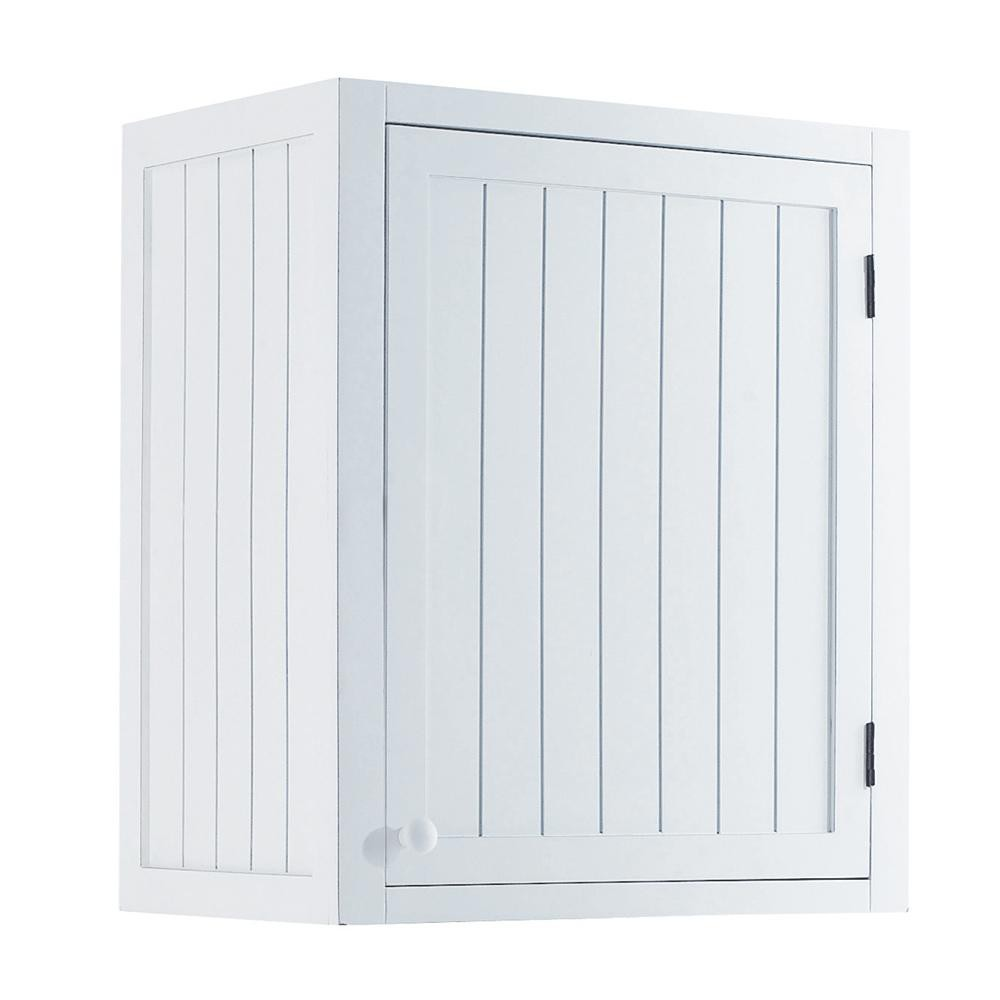 Mobile alto bianco da cucina in legno con apertura a sinistra l 60 ...
