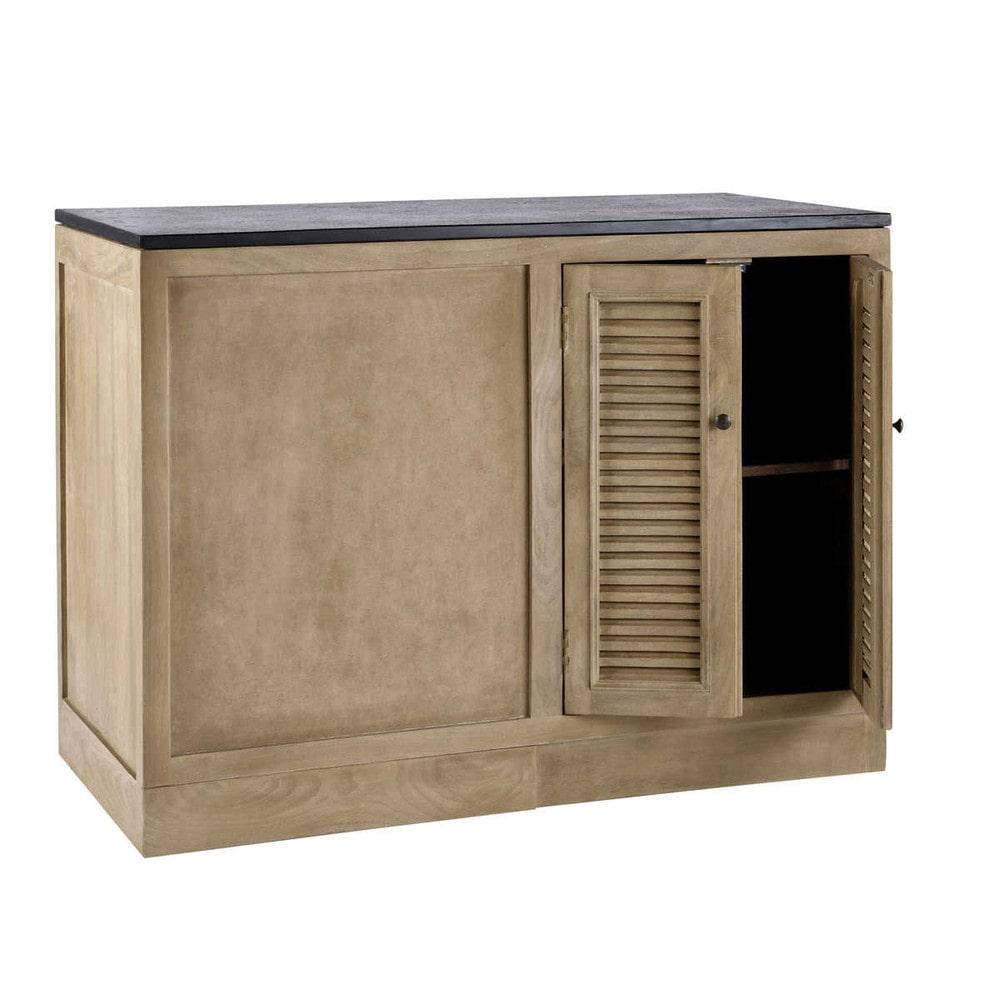 Mobile basso ad angolo da cucina in mango l 120 cm for Mobili da cucina