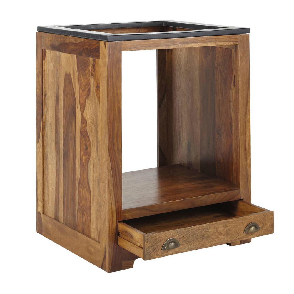 Mobile basso da cucina in massello di legno di sheesham per forno L 70 ...