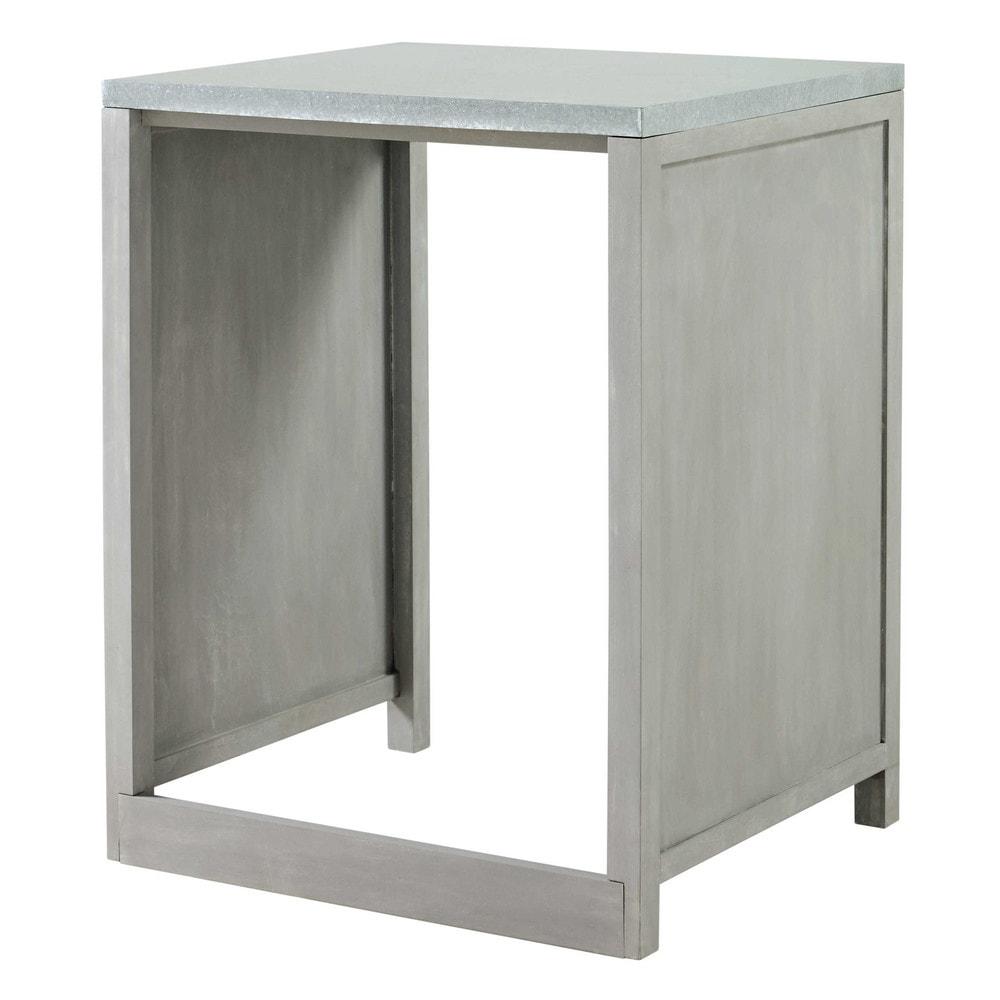 mobile da cucina in hevea per lavastoviglie l 66 cm zinc. Black Bedroom Furniture Sets. Home Design Ideas