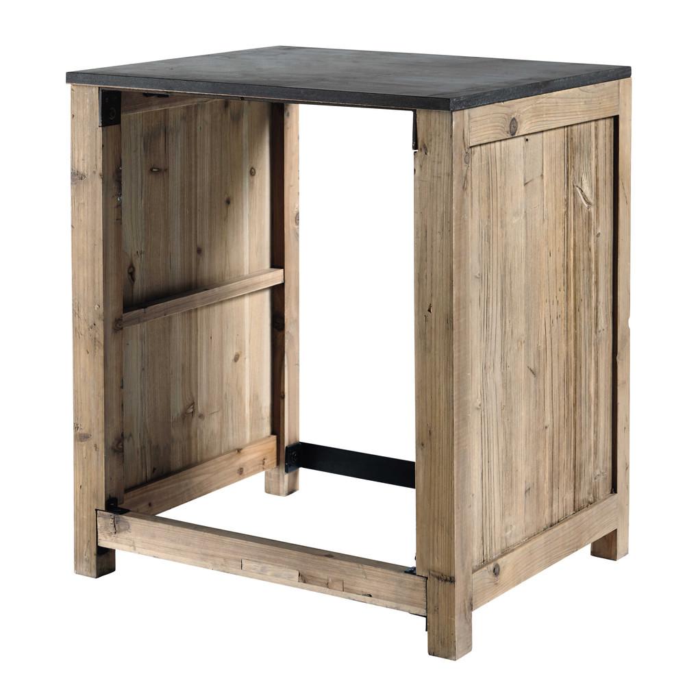 mobile da cucina in pino riciclato per lavastoviglie l 68 cm